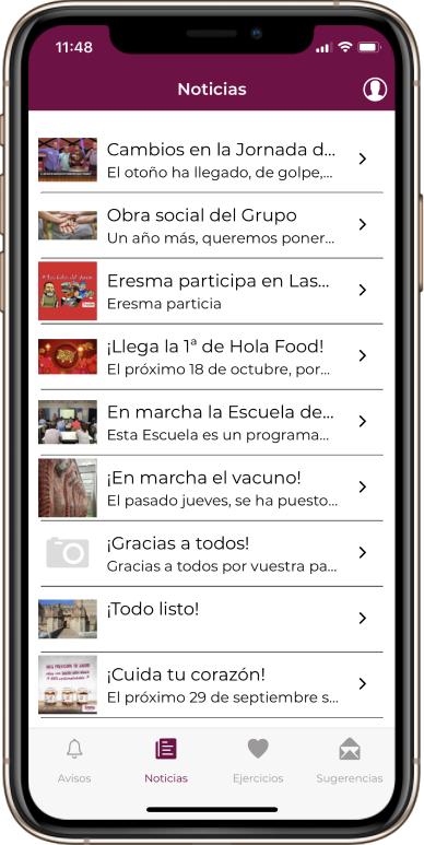 Desarrollo de app para copese comunicación interna